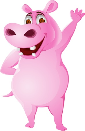 cartoon hippo: Hippo cartoon  Illustration