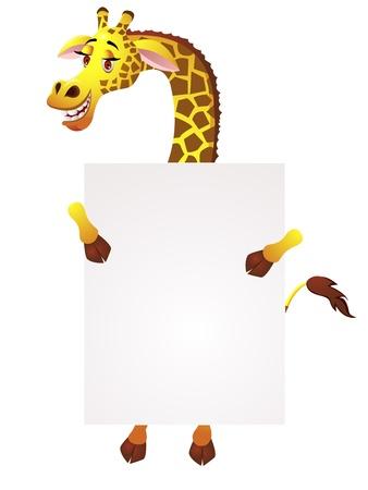 Girafe avec le signe vierge Banque d'images - 13446442