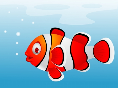clown fish: Clown fish cartoon  Illustration