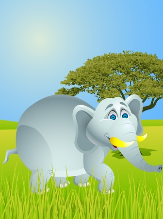 bush babies: Elephant cartoon