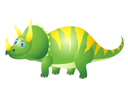 paleontological: Triceratops cartoon