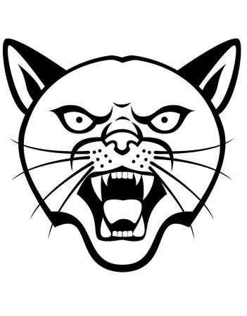 wildcat: Panther head tattoo