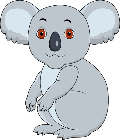 Koala cartoon sitting  Vector