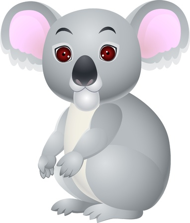 Koala cartoon sitting  Vector