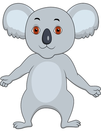 koala cartoon Vector