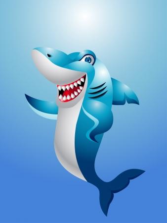 happy shark Vector