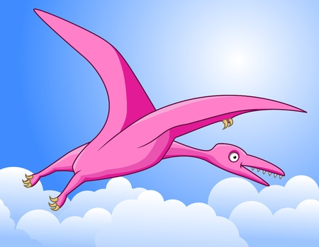 illustration of pterodactyl  Vector
