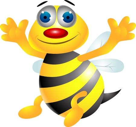 abeja reina: Bee de dibujos animados