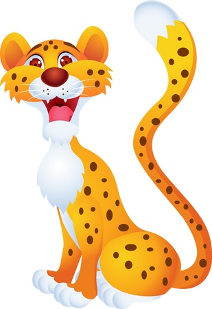 Cheetah cartoon Stock Vector - 13446500