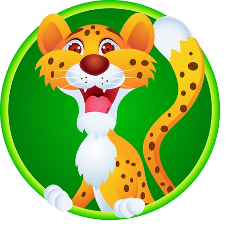 cartoon jungle: Cheetah cartoon  Illustration
