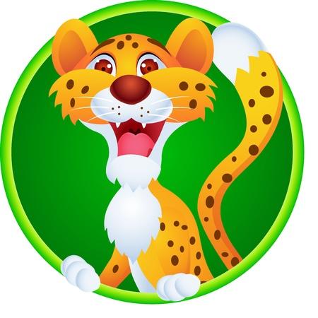 chita: Cheetah de dibujos animados Vectores