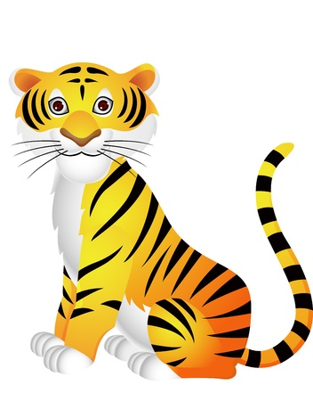 siberian tiger: Tiger cartoon