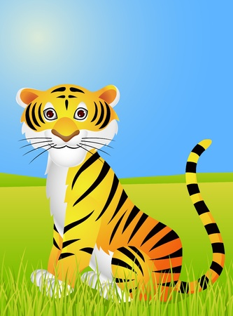 warlike: Tiger cartoon