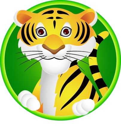 cartoon animal: Tiger cartoon