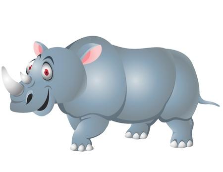 nashorn: Rhino Karikatur isoliert