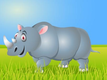 hunted: Rhino cartoon