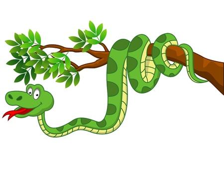 cobra: Serpiente de dibujos animados Vectores