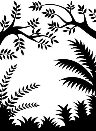 Jungle silhouette  Vector