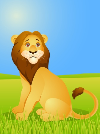 Lion cartoon  Stock Vector - 13446460