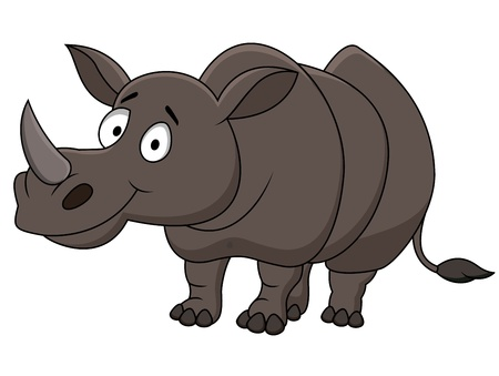 Rhino cartoon  Vector