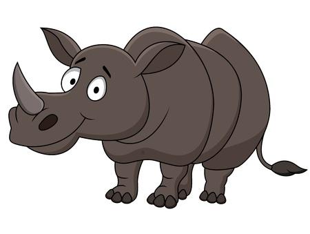 nashorn: Rhino-Karikatur Illustration