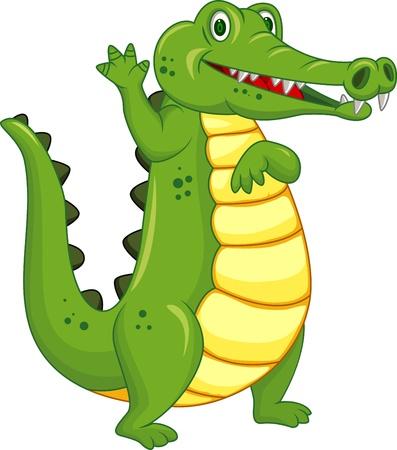 dessin animé crocodile drôle