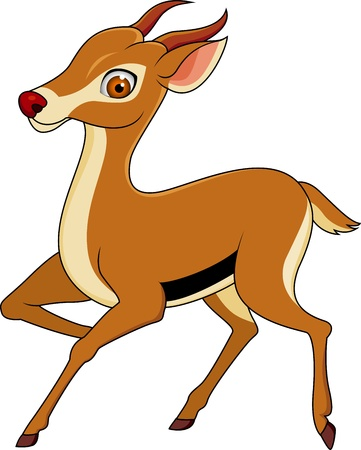 Gazelle cartoon  Vector
