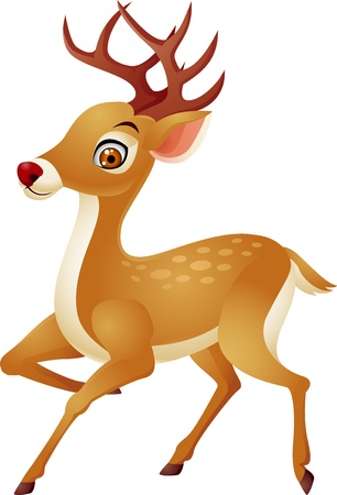 animal themes: Deer cartoon Illustration