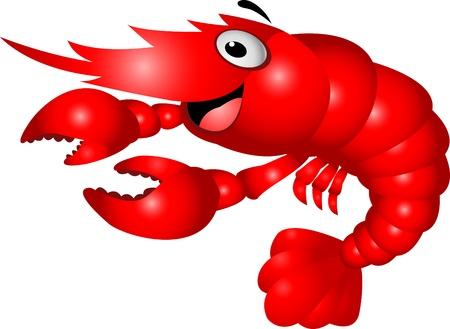 Shrimp cartoon Vector