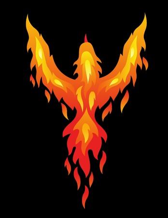 mythological: Phoenix bird  Illustration