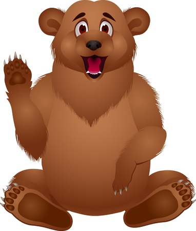 bear cartoon Stock Vector - 13496375