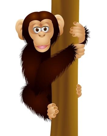 naughty: funny chimpanzee Illustration