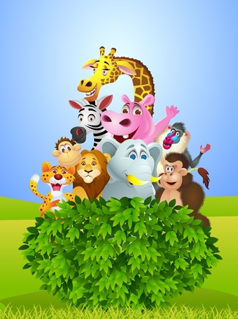 Animal cartoon Stock Vector - 13497239