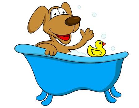 patas de perros: Perro de ba�o Vectores