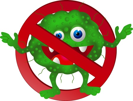 bacteria cartoon: Stop virus