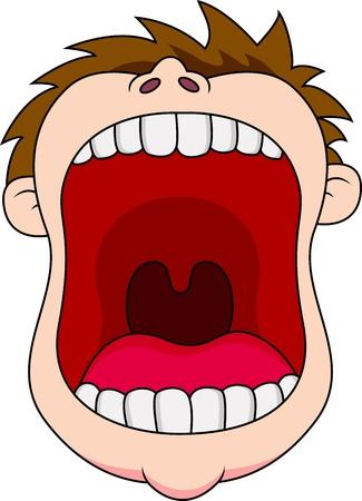 bouche homme: Ouvrir la bouche Illustration