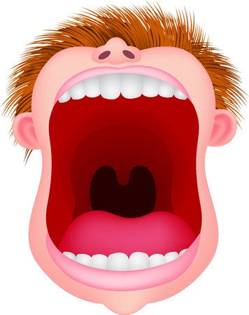 Open mouth Vector