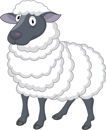 Sheep cartoon  Stock Vector - 13495354