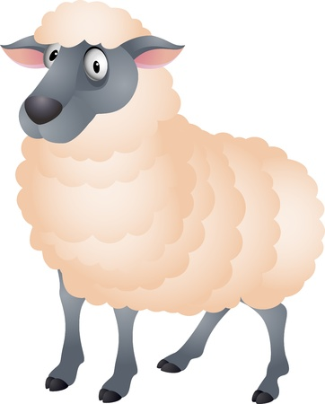 Sheep cartoon Stock Vector - 13494979