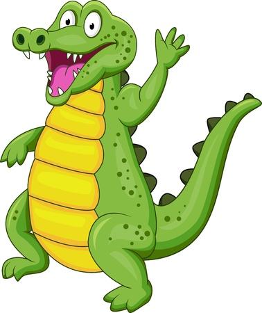 jacar�: crocodilo dos desenhos animados Ilustra��o