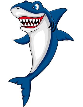 sea monster: shark cartoon Illustration