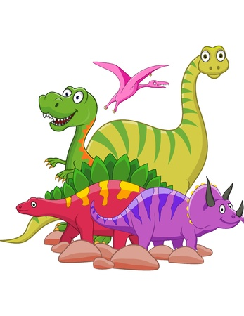 extinction: Dinosaur cartoon