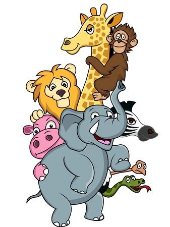 playful: Animal cartoon