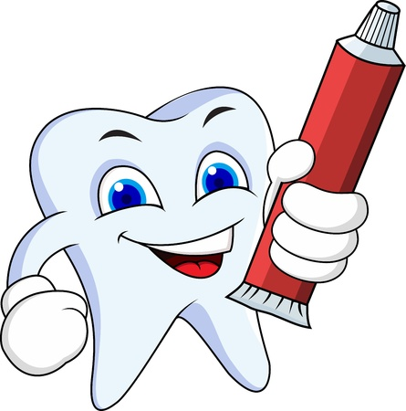 paste: Tooth cartoon character