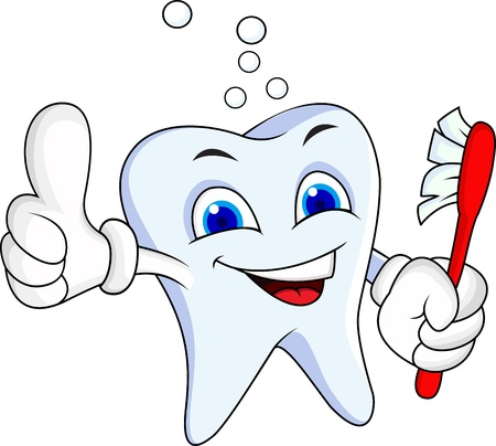 tooth root: Tooth cartoon character