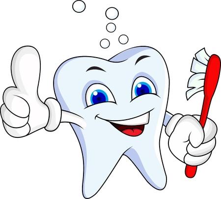 mal di denti: Tooth personaggio dei cartoni animati Vettoriali