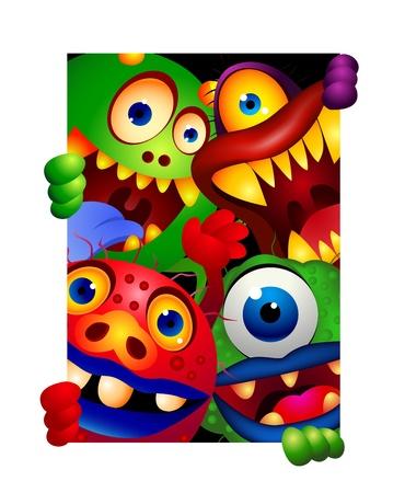 monstruo de dibujos animados