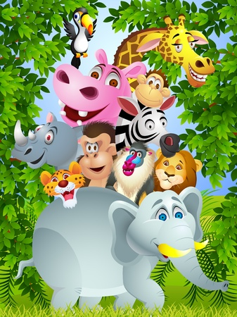 hippo: Animal cartoon