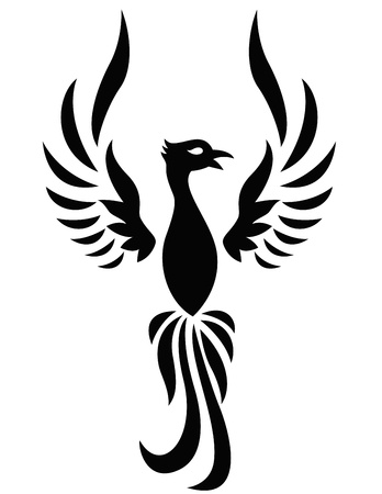 mythical phoenix bird: Phoenix tattoo