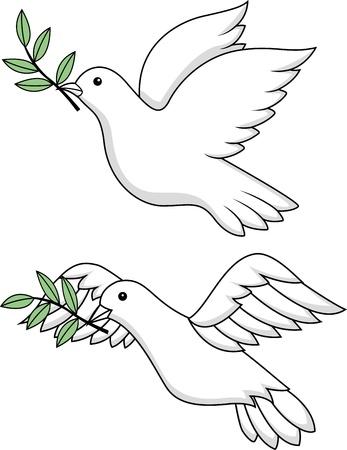 pigeons: Symbole colombe blanche